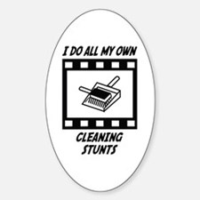 Cleaning Stunts Oval Decal