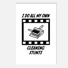 Cleaning Stunts Postcards (Package of 8)