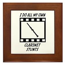 Clarinet Stunts Framed Tile