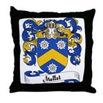 Mallet Family Crest Throw Pillow