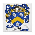Mallet Family Crest Tile Coaster