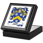 Mallet Family Crest Keepsake Box