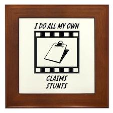 Claims Stunts Framed Tile