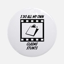 Claims Stunts Ornament (Round)