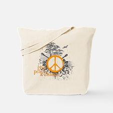 Give Peace Scene - Orange Tote Bag