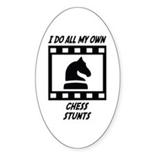 Chess Stunts Oval Decal