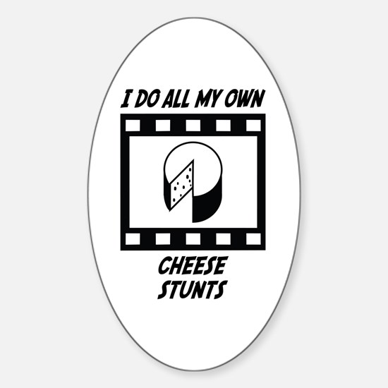 Cheese Stunts Oval Decal