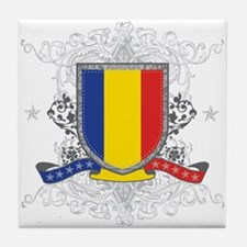 Romania Shield Tile Coaster