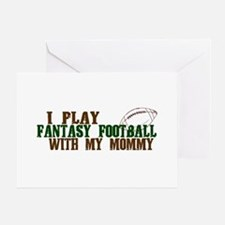 Fantasy Football with Mommy Greeting Card