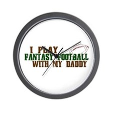 Fantasy Football with Daddy Wall Clock