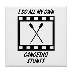 Canoeing Stunts Tile Coaster