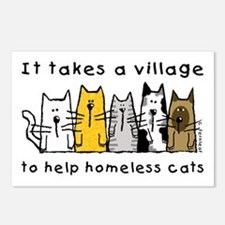 Feral Cats, Village Postcards (Package of 8)