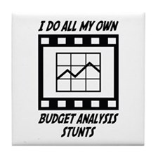 Budget Analysis Stunts Tile Coaster
