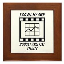 Budget Analysis Stunts Framed Tile