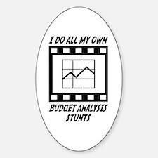 Budget Analysis Stunts Oval Decal