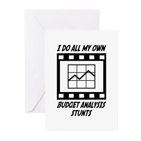 Budget Analysis Stunts Greeting Cards (Pk of 20)