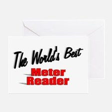 """The World's Best Meter Reader"" Greeting Card"