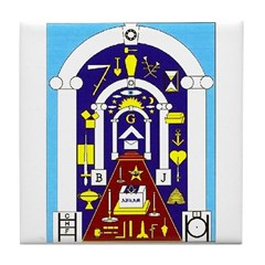 Traveling to the Arch Tile Coaster