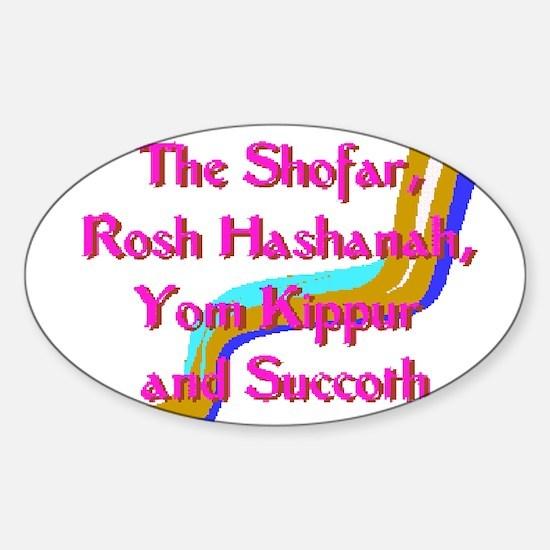 Rosh Hashanah Oval Decal