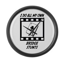Bridge Stunts Large Wall Clock