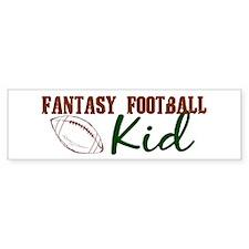 Fantasy Football Kid Bumper Car Sticker