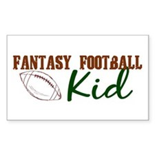 Fantasy Football Kid Rectangle Decal
