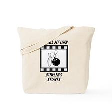 Bowling Stunts Tote Bag