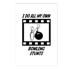 Bowling Stunts Postcards (Package of 8)