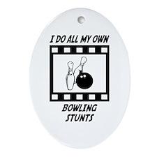 Bowling Stunts Oval Ornament