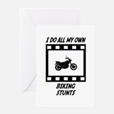 Biking Stunts Greeting Card