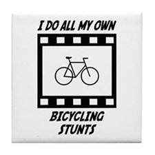 Bicycling Stunts Tile Coaster