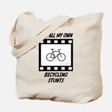 Bicycling Stunts Tote Bag