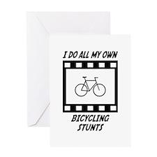Bicycling Stunts Greeting Card