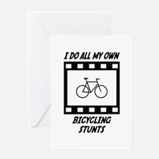 Bicycling Stunts Greeting Card
