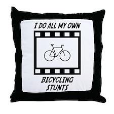 Bicycling Stunts Throw Pillow