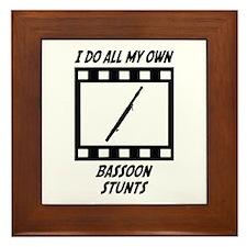 Bassoon Stunts Framed Tile