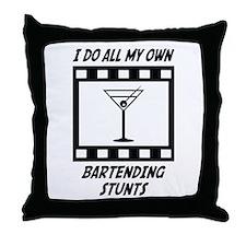 Bartending Stunts Throw Pillow