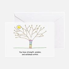 New Age Tree Wisdom Greeting Card