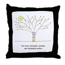 New Age Tree Wisdom Throw Pillow