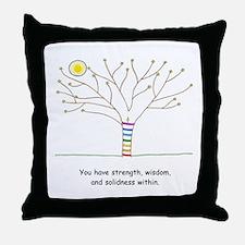 New Age Tree Wisdom Throw Pillow