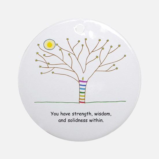New Age Tree Wisdom Ornament (Round)