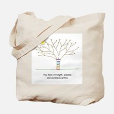 New Age Tree Wisdom Tote Bag
