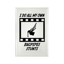 Bagpipes Stunts Rectangle Magnet