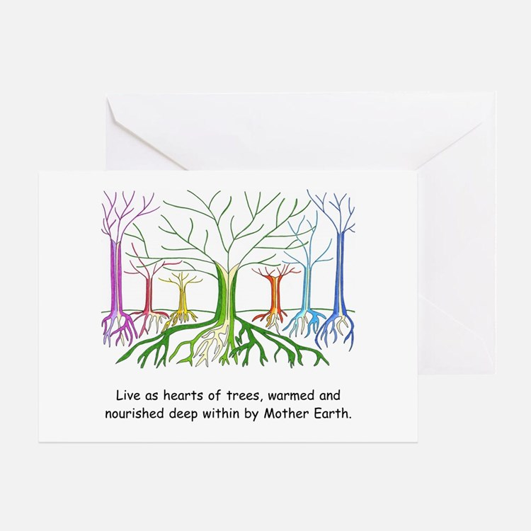 New Age Heart Gifts Greeting Card