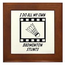 Badminton Stunts Framed Tile