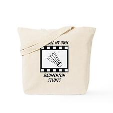 Badminton Stunts Tote Bag