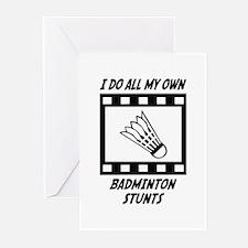Badminton Stunts Greeting Cards (Pk of 10)
