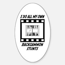 Backgammon Stunts Oval Decal