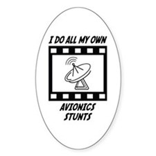 Avionics Stunts Oval Decal