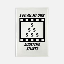 Auditing Stunts Rectangle Magnet